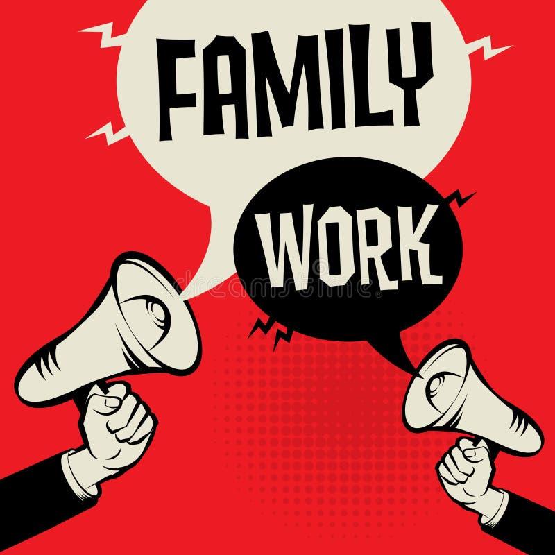 Família contra o trabalho ilustração stock
