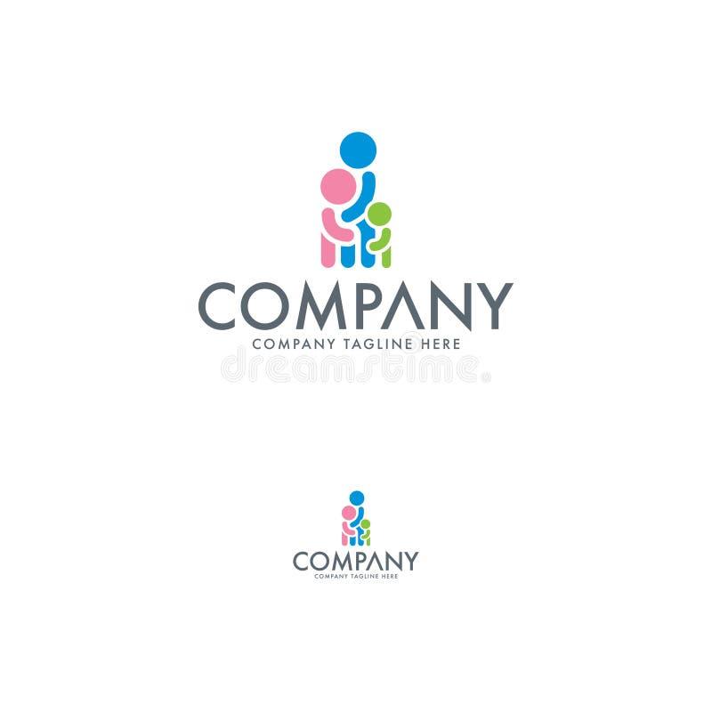 Família criativa Logo Design Template ilustração do vetor