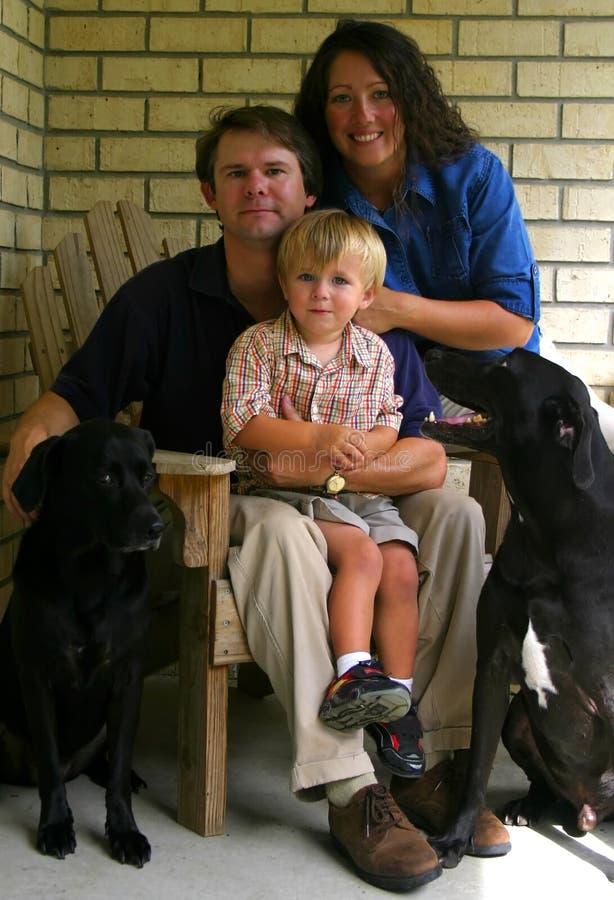 Família da classe média imagem de stock royalty free