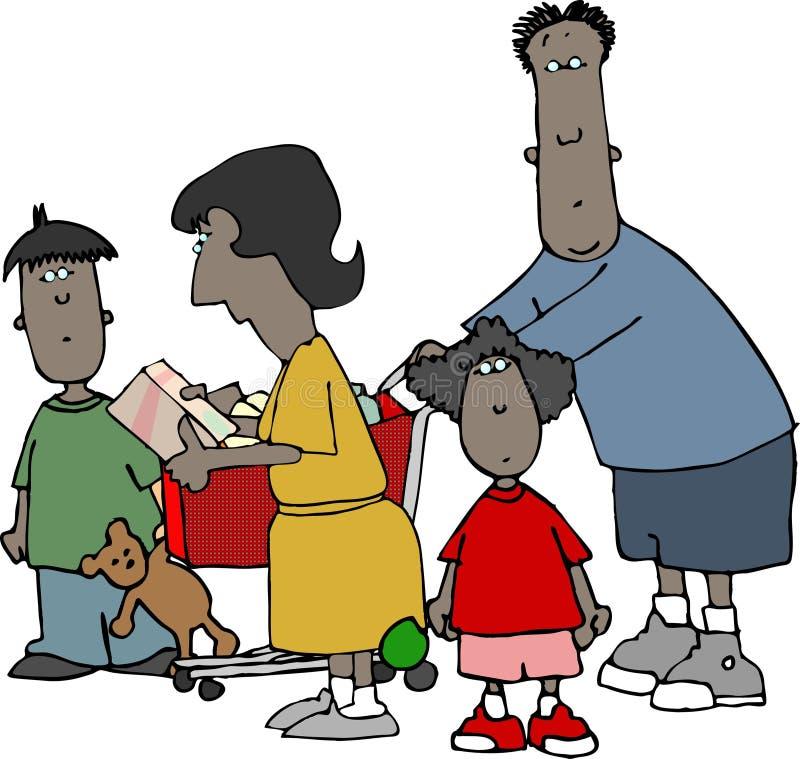 Família da compra ilustração do vetor
