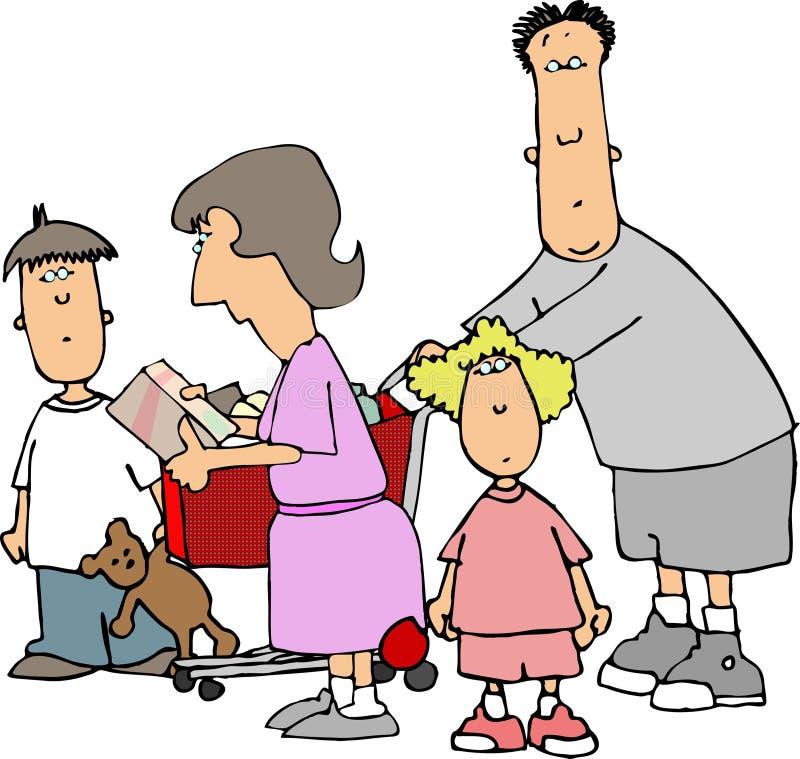 Família da compra II. ilustração royalty free