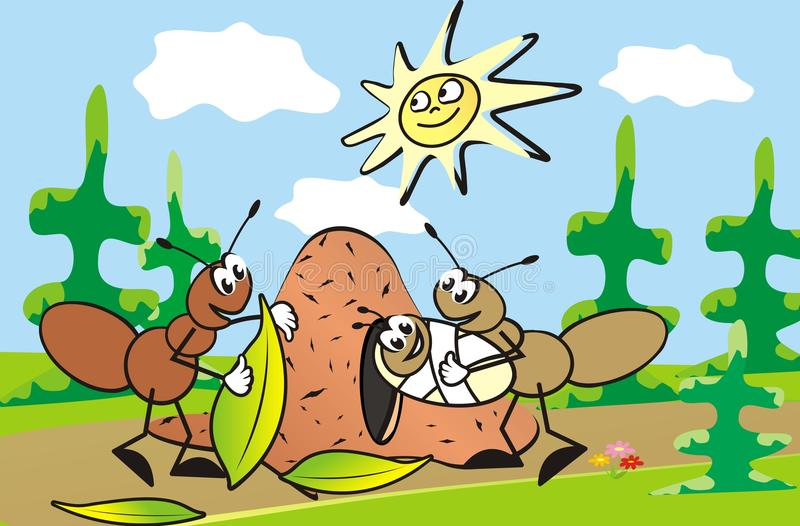 Família da formiga ilustração stock