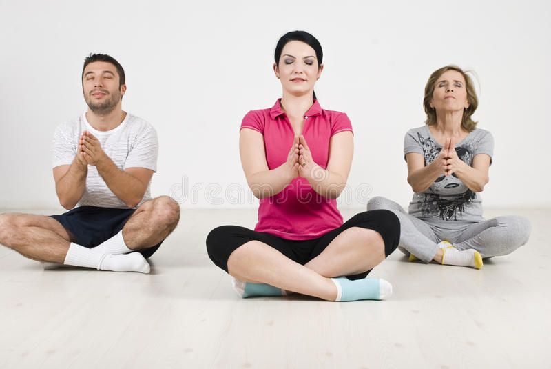 Família da ioga foto de stock