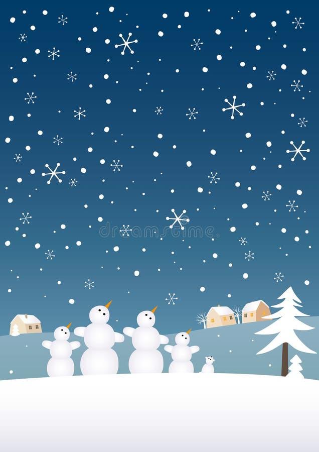 Família da neve ilustração stock