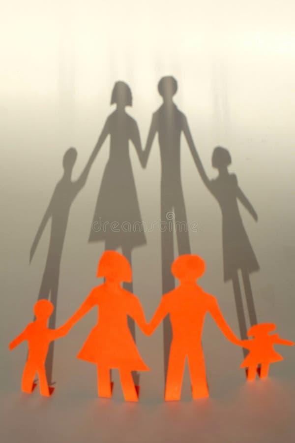 Família da sombra foto de stock