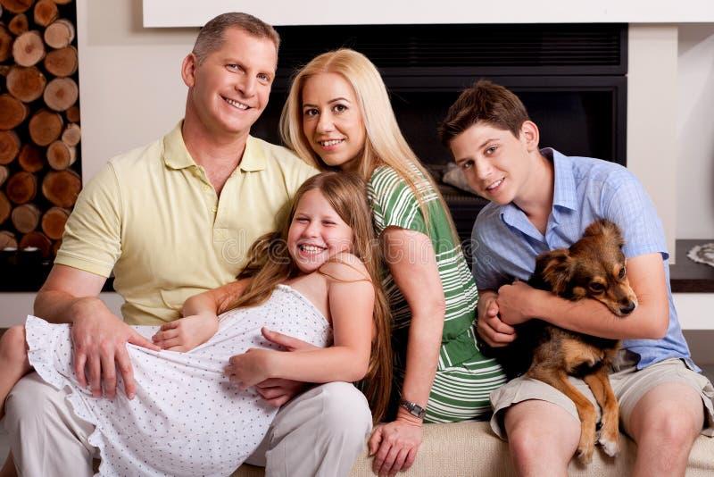 Família de cinco adorável imagens de stock royalty free