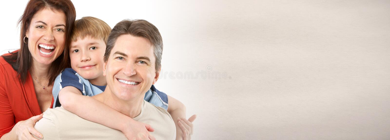 Família de riso feliz fotografia de stock royalty free