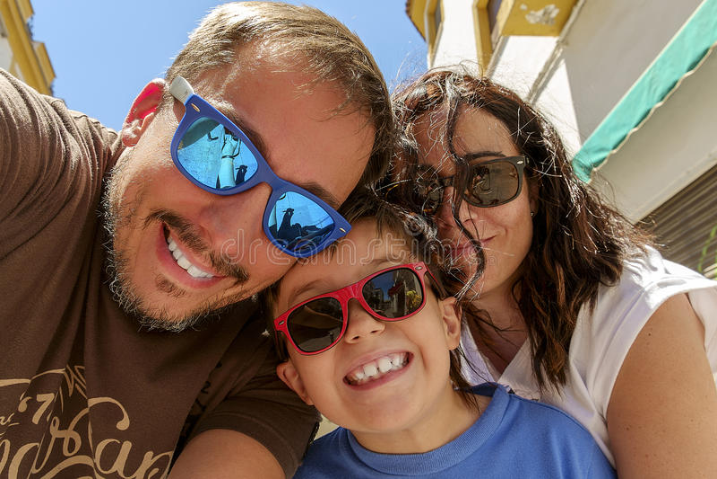 Família de Selfie fotografia de stock royalty free