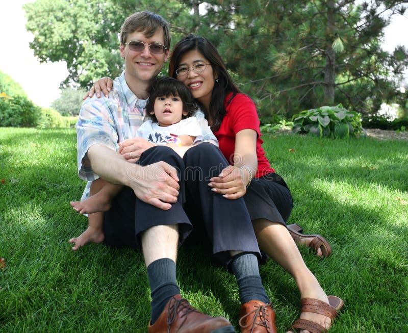Família de três imagens de stock