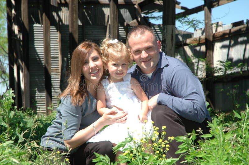 Família de três feliz imagem de stock royalty free