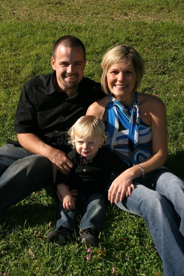 Família de três feliz foto de stock royalty free