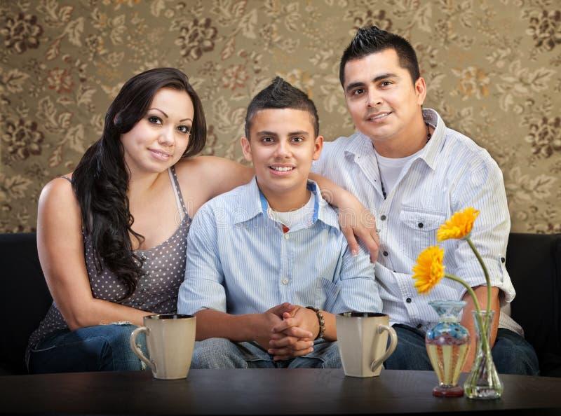 Família de três latino-americano fotos de stock royalty free