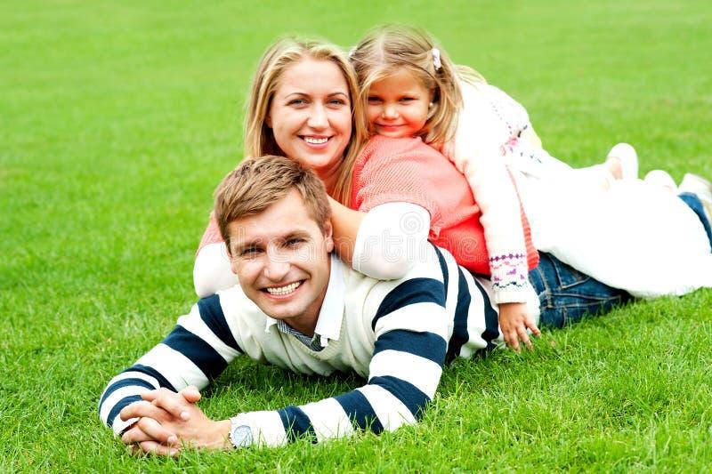 Família de três Photogenic foto de stock royalty free