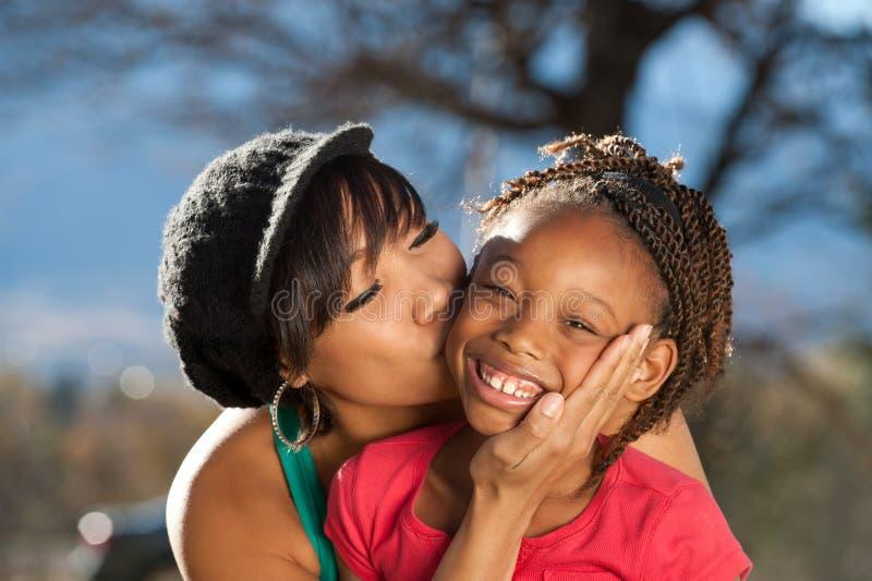 Família do Afro fotografia de stock