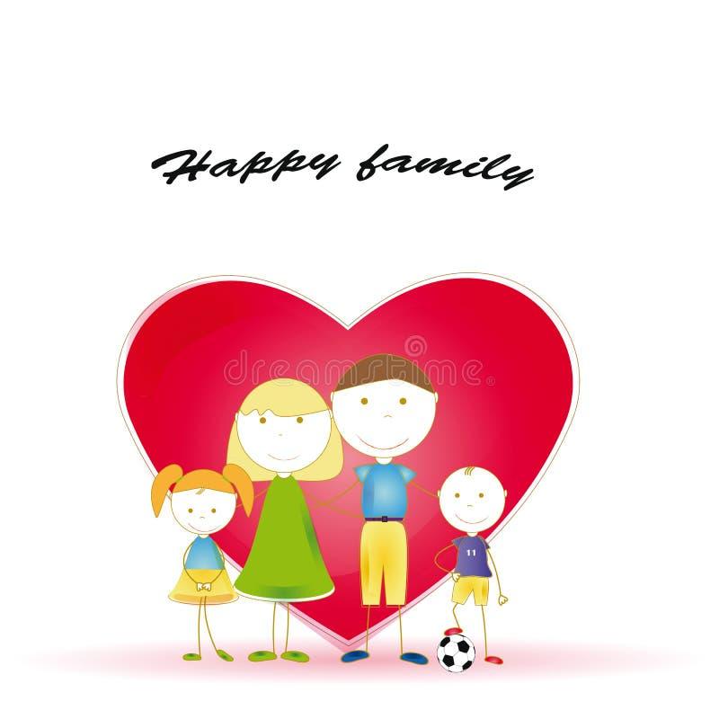 Família do amor ilustração do vetor