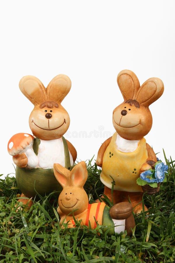 Família do coelho de Easter foto de stock royalty free