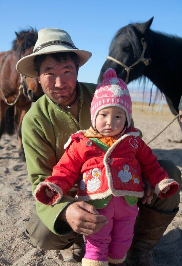 Família do Mongolian foto de stock royalty free