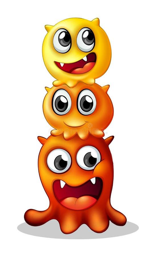 Família do monstro ilustração royalty free