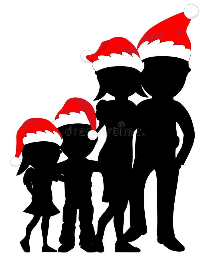 Família do Natal ilustração do vetor