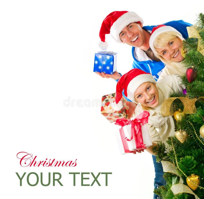 Família do Natal imagens de stock