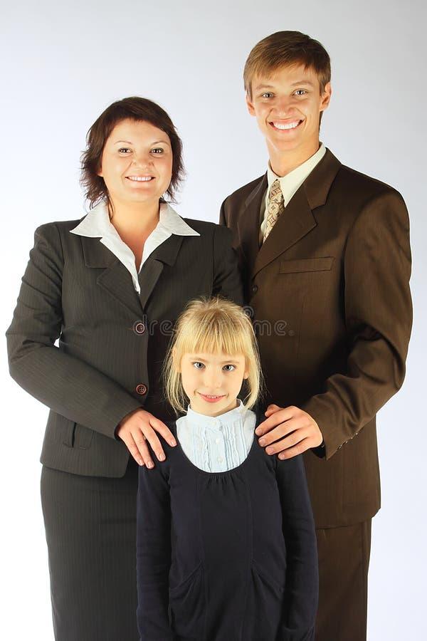 Família do negócio imagem de stock