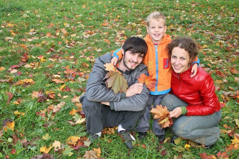 Família do outono fotografia de stock