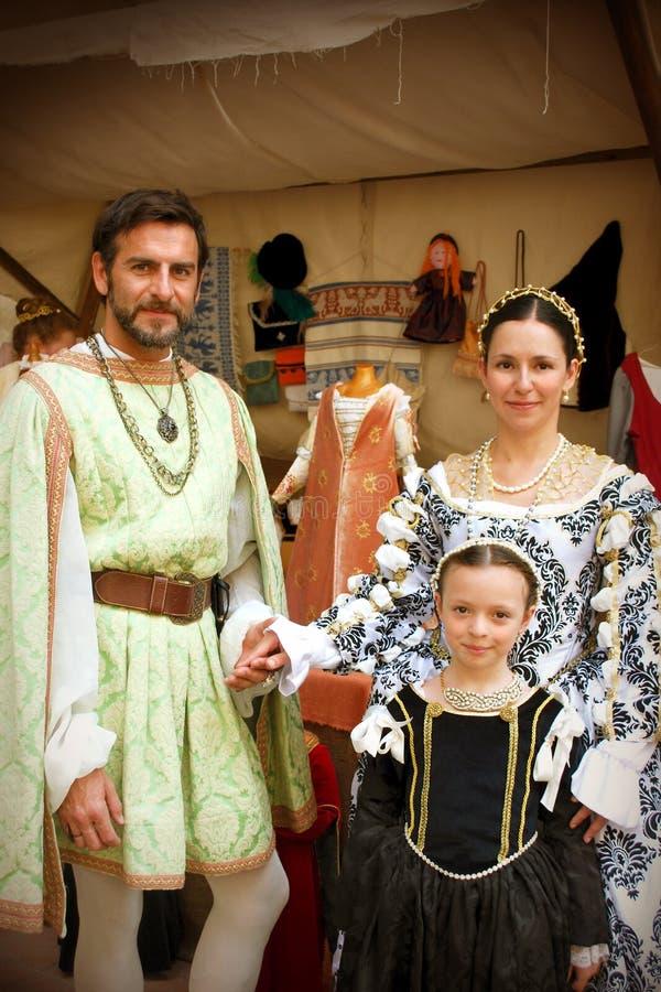 Família do renascimento fotos de stock