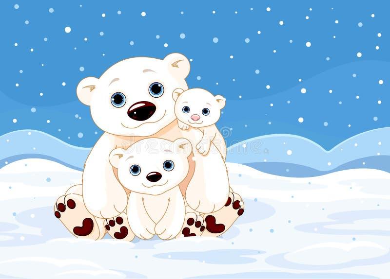 Família do urso polar ilustração stock