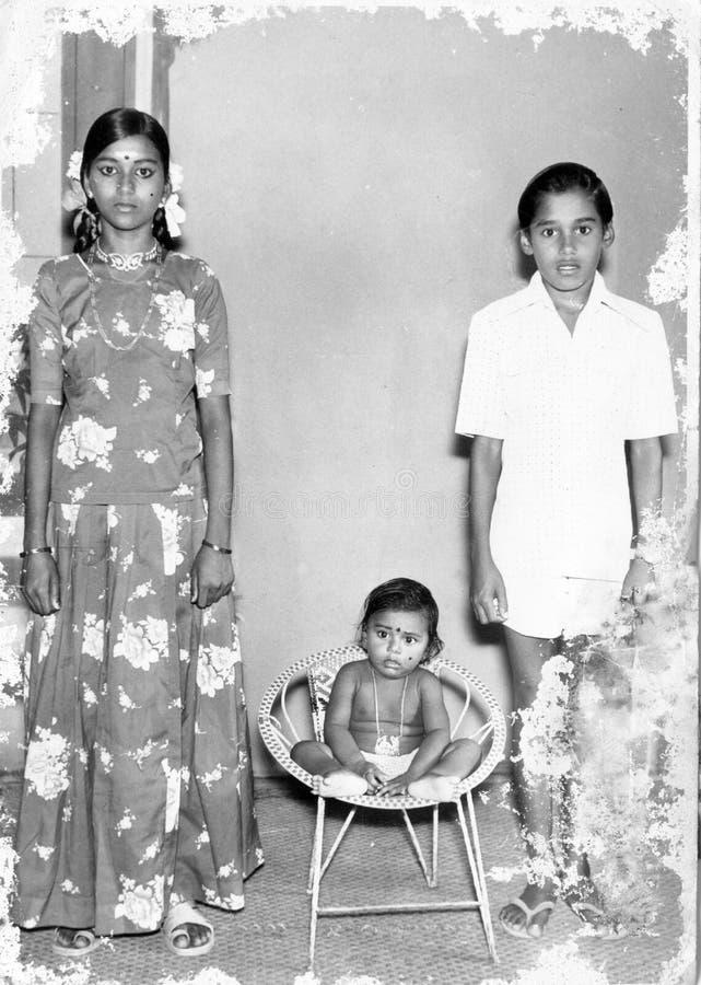 Família do vintage imagens de stock royalty free