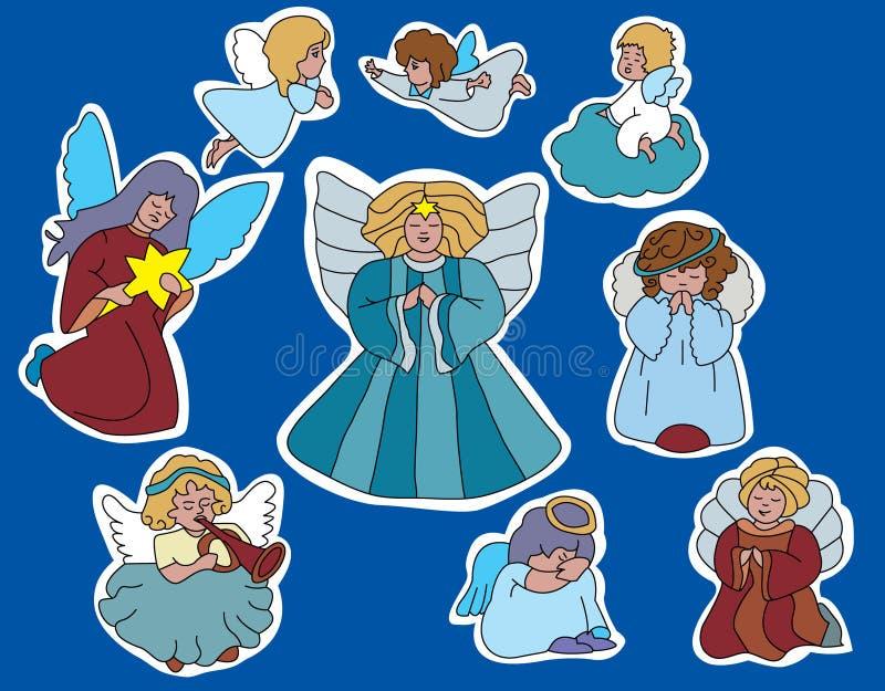 Família dos anjos ilustração royalty free