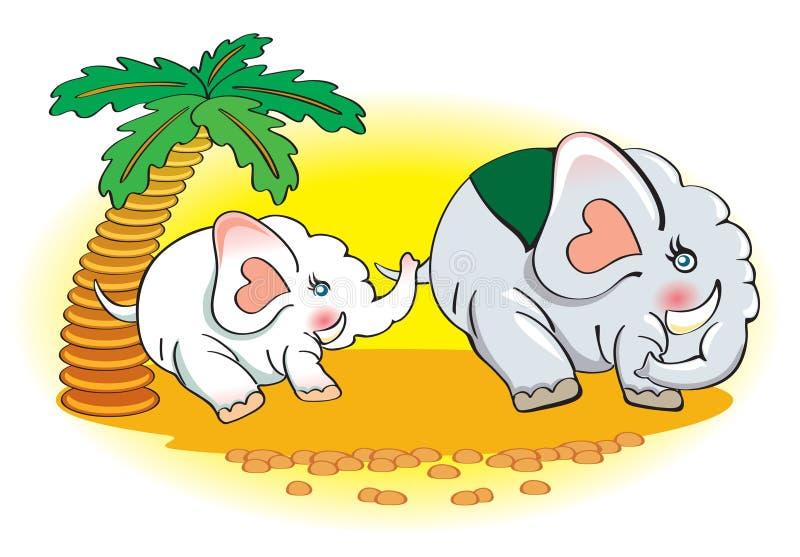 Família dos elefantes fotos de stock