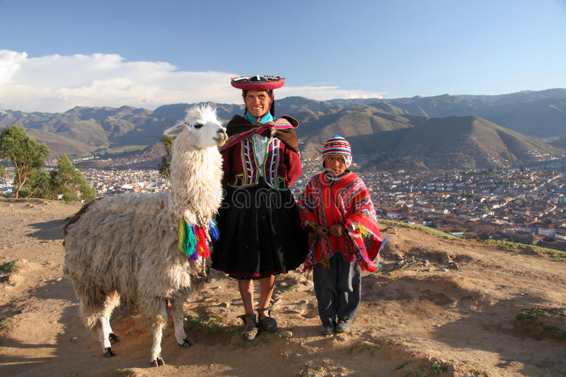 Família dos Incas imagem de stock royalty free