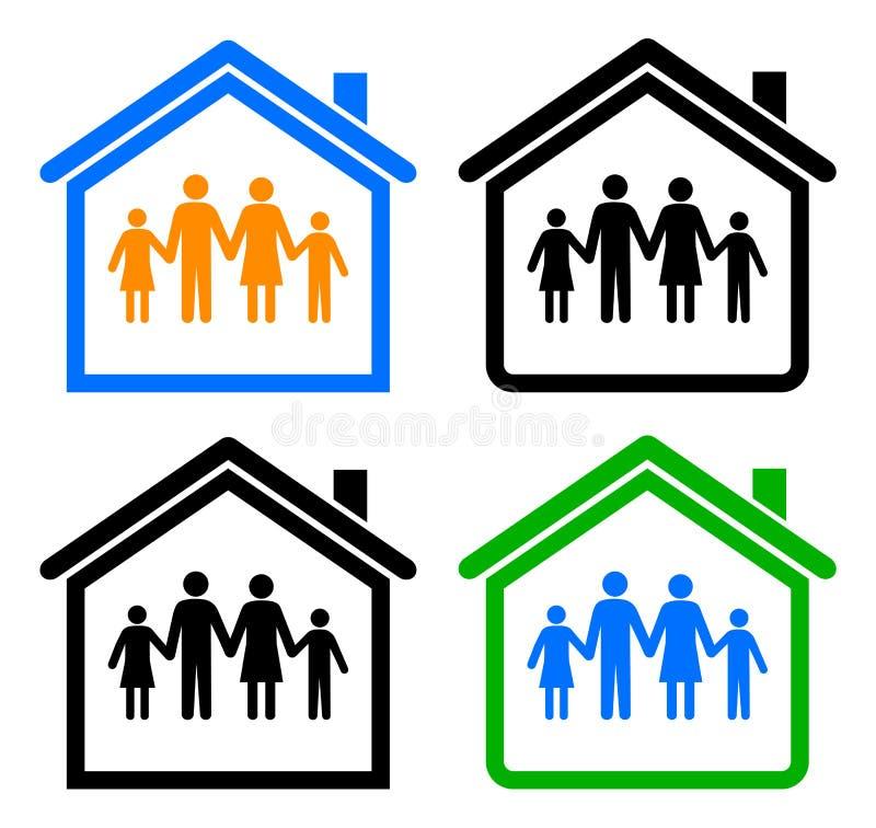Família e HOME ilustração royalty free