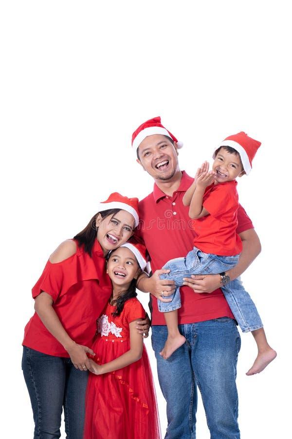 Família e retrato das crianças Tema do Natal fotos de stock royalty free