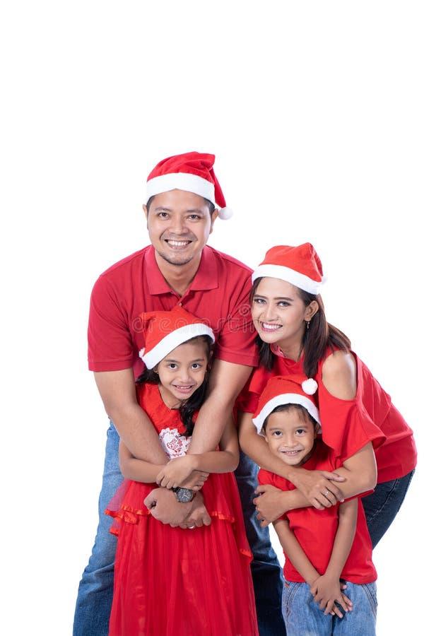Família e retrato das crianças Tema do Natal imagens de stock