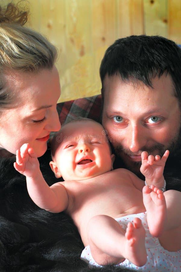 Família em casa imagens de stock
