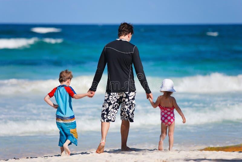 Família em férias fotografia de stock