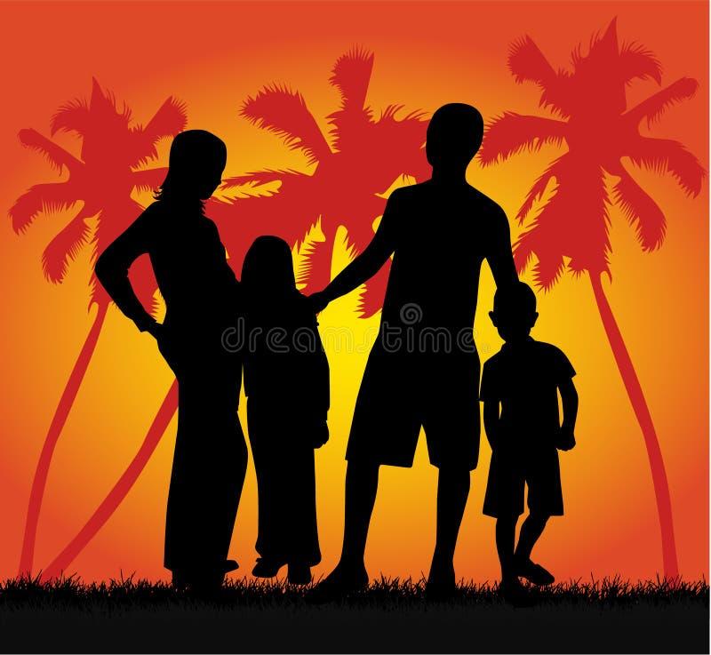 Família em férias ilustração stock