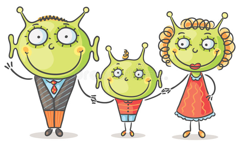 Família estrangeira ilustração do vetor