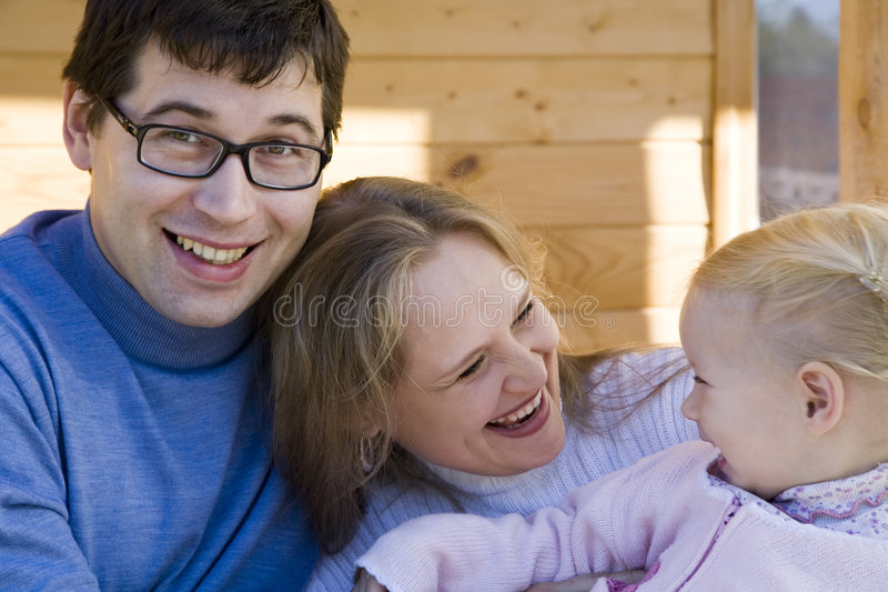 Família feliz 2 imagem de stock royalty free