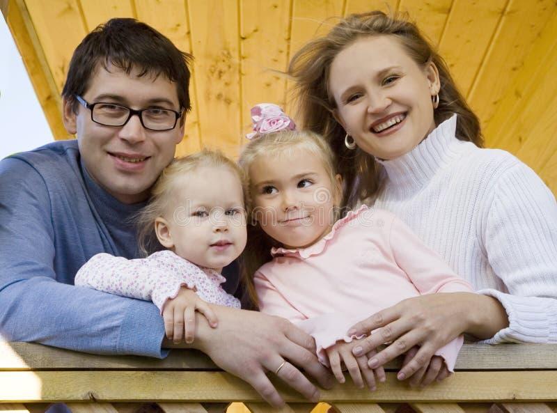 Família feliz 3 fotos de stock royalty free