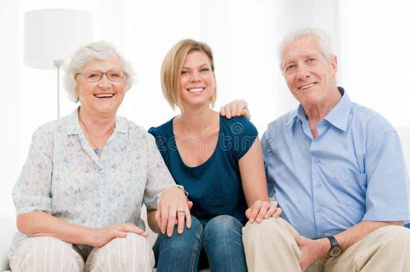 Família feliz alegre fotografia de stock royalty free
