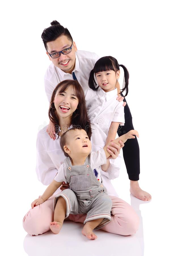 Família feliz asiática foto de stock