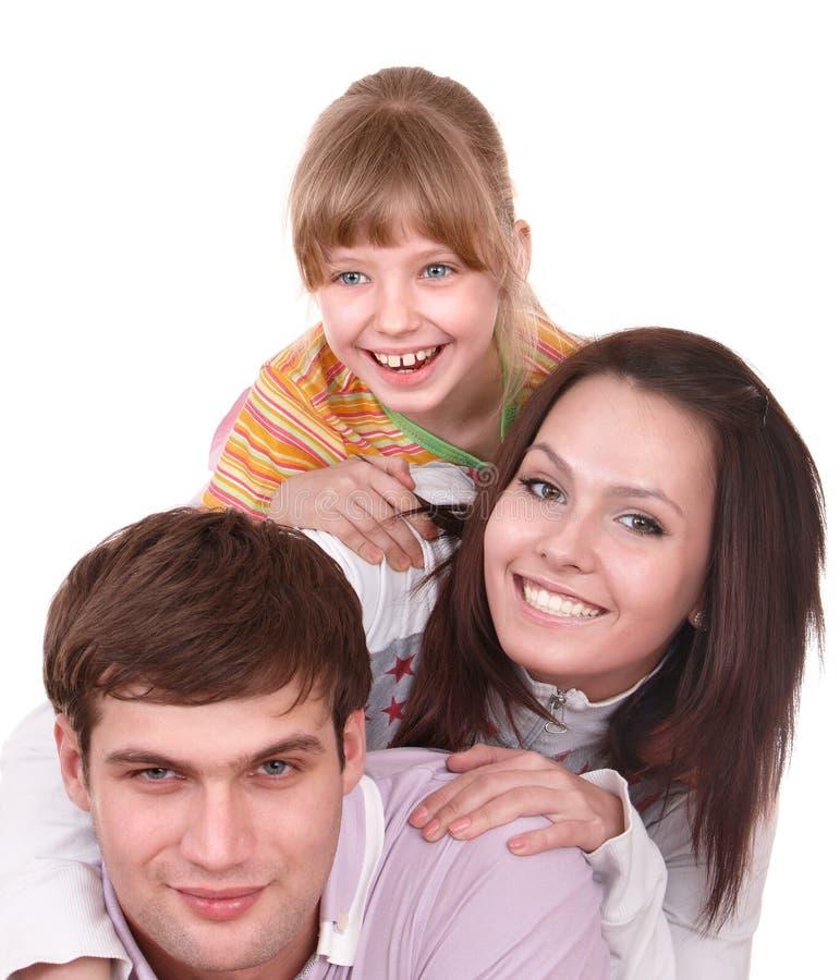 Família feliz com criança. fotografia de stock royalty free