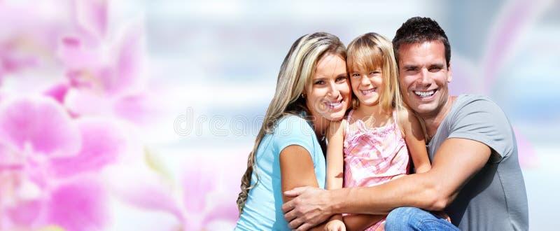 Família feliz com criança foto de stock