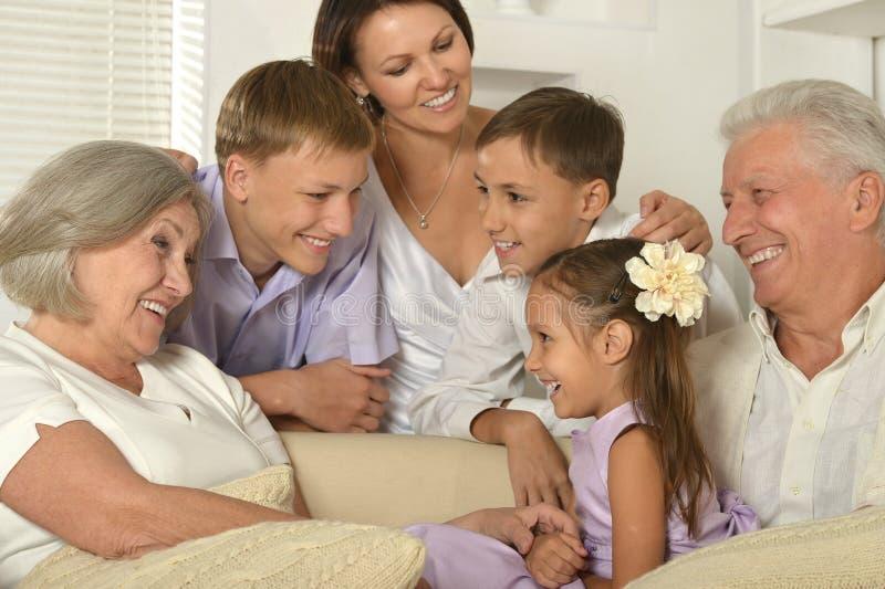 Família feliz com miúdos foto de stock royalty free