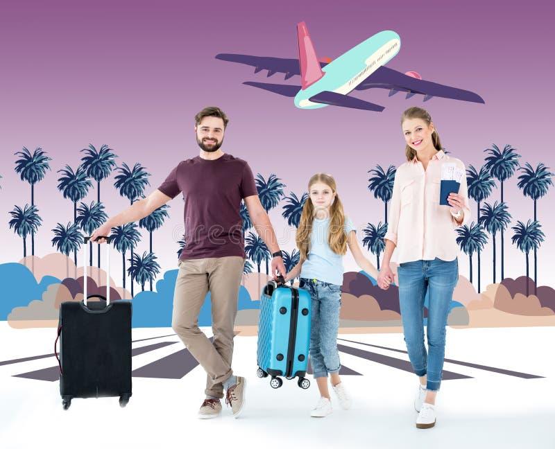 Família feliz em férias imagem de stock royalty free