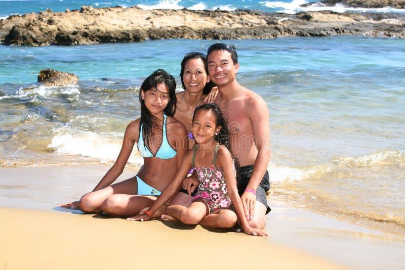 Família feliz em feriados fotografia de stock royalty free