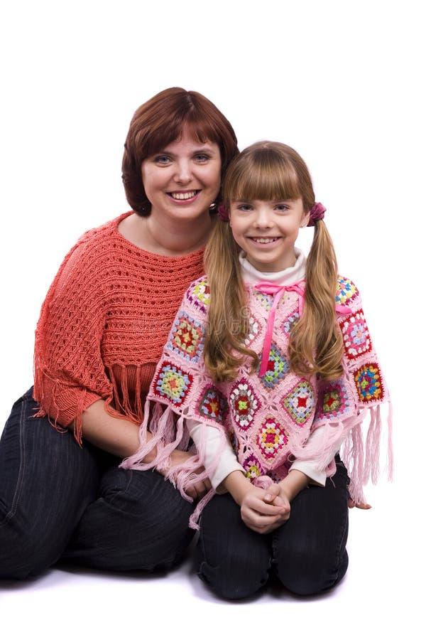 Família feliz - matriz e filha imagens de stock