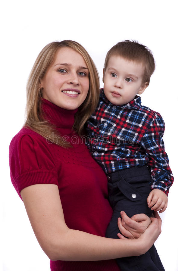Família feliz - matriz e filho imagens de stock royalty free